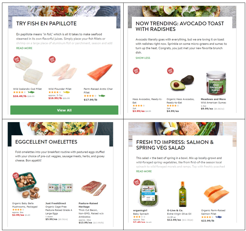 FreshDirect Online Grocery Store Ecommerce Guides